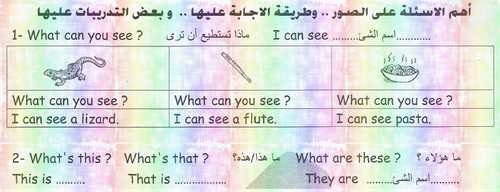 أهم الأسئلة على سؤال الصور وطريقة الإجابة عليها لغة انجليزية للصف الرابع ترم أول 2019 مستر محمد زايد
