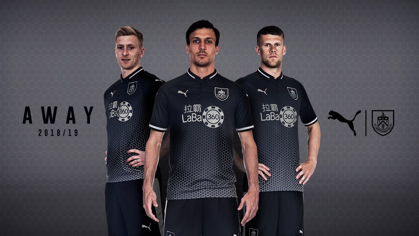 f4d30b89ff3 The Burnley 18-19 away kit was officially launched today. It is made by  Puma and sponsored by new Burnley FC sponsor Laba360.