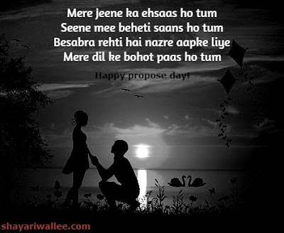 romantic happy propose day shayari in hindi