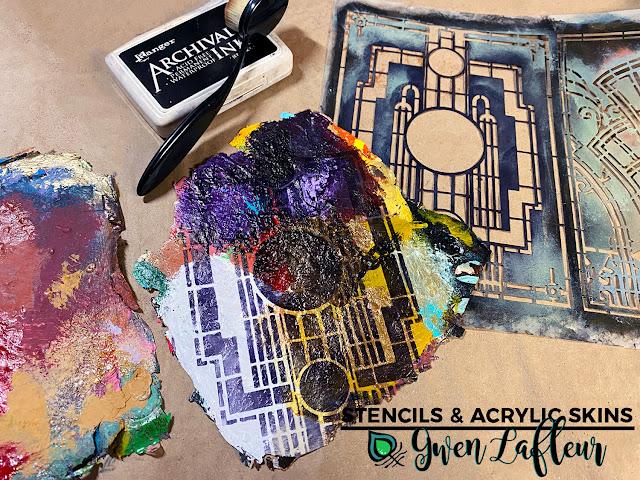 Stencils & Acrylic Skins Tutorial - Step 1 - Gwen Lafleur