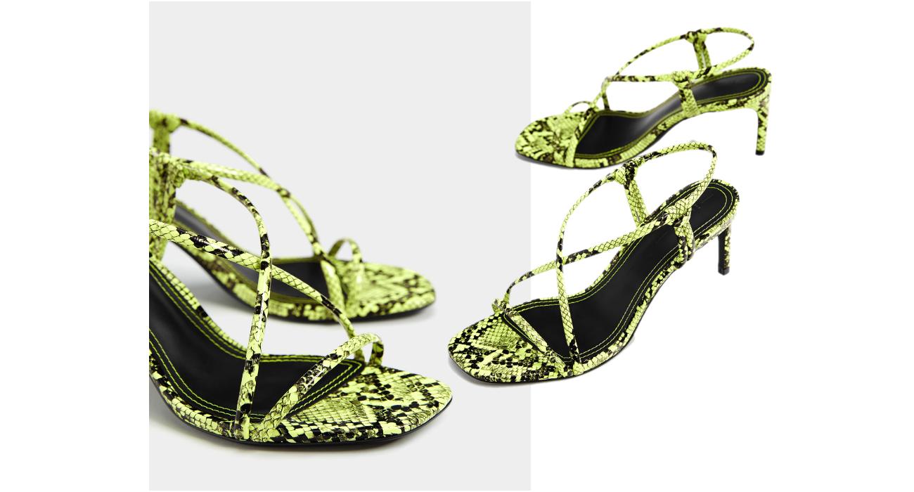 sandały z paskami na obcasie, sandały z pasków, sandały zara, najmodniejsze buty lata