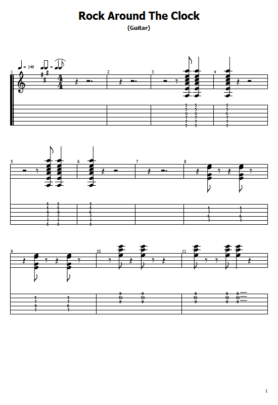 Rock Around The Clock Tabs Bill Haley. How To Play Bill Haley On Guitar/ Rock Around The Clock Free Tabs / Bill Haley Sheet Music. Bill Haley- Rock Around The Clock