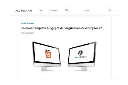 4 Cara menu navigasi yang cocok buat template blogspot essentials