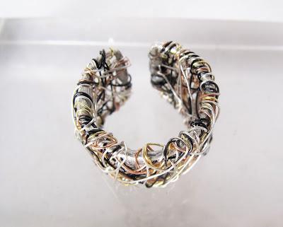 Modern ring, sculpural ring, art ring