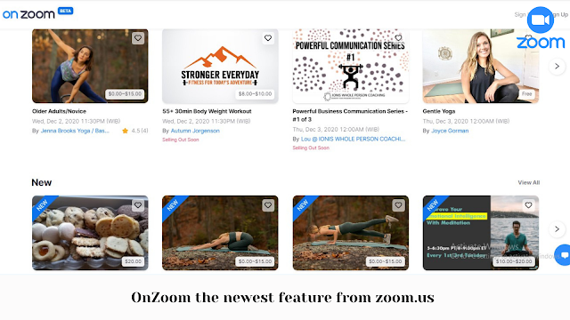 OnZoom the newest feature from zoom.us