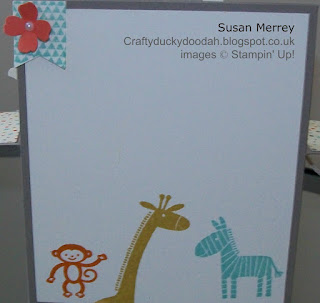 Stampin' Up! Made by Susan Simpson (Merrey) Independent Stampin' Up! Demonstrator, Craftyduckydoodah!, Zoo Babies,