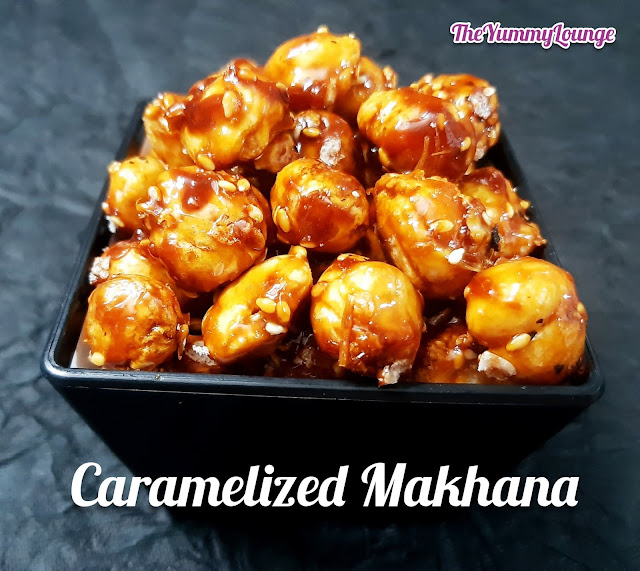 Here is the best and healthy Roasted Caramelized Makhana Snack recipe.