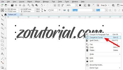 Cara Edit Tulisan (Teks) Agar Bisa Dibentuk di Coreldraw