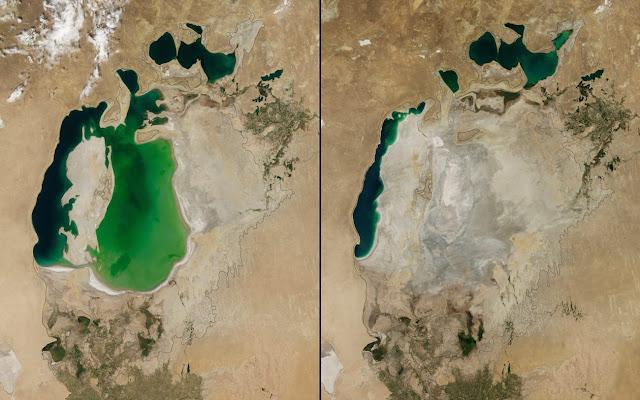Что мы сделали с нашей планетой: 30 пугающих фото со спутника, сделанные с разницей в 70 лет