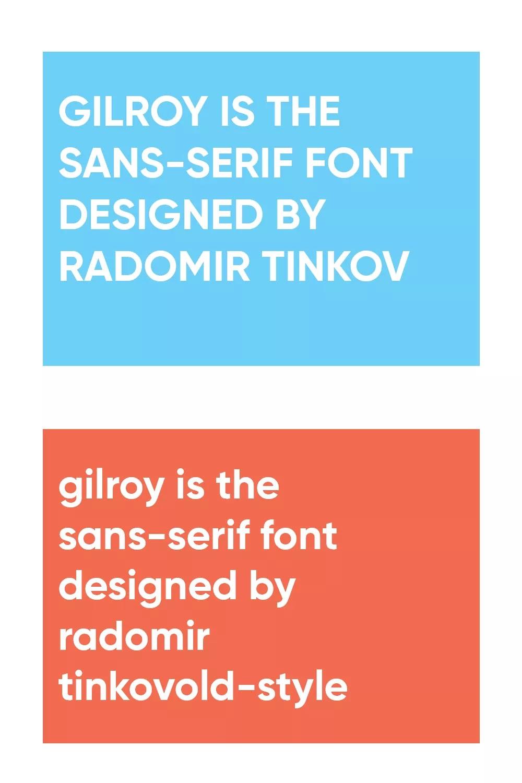 Gilroy Font