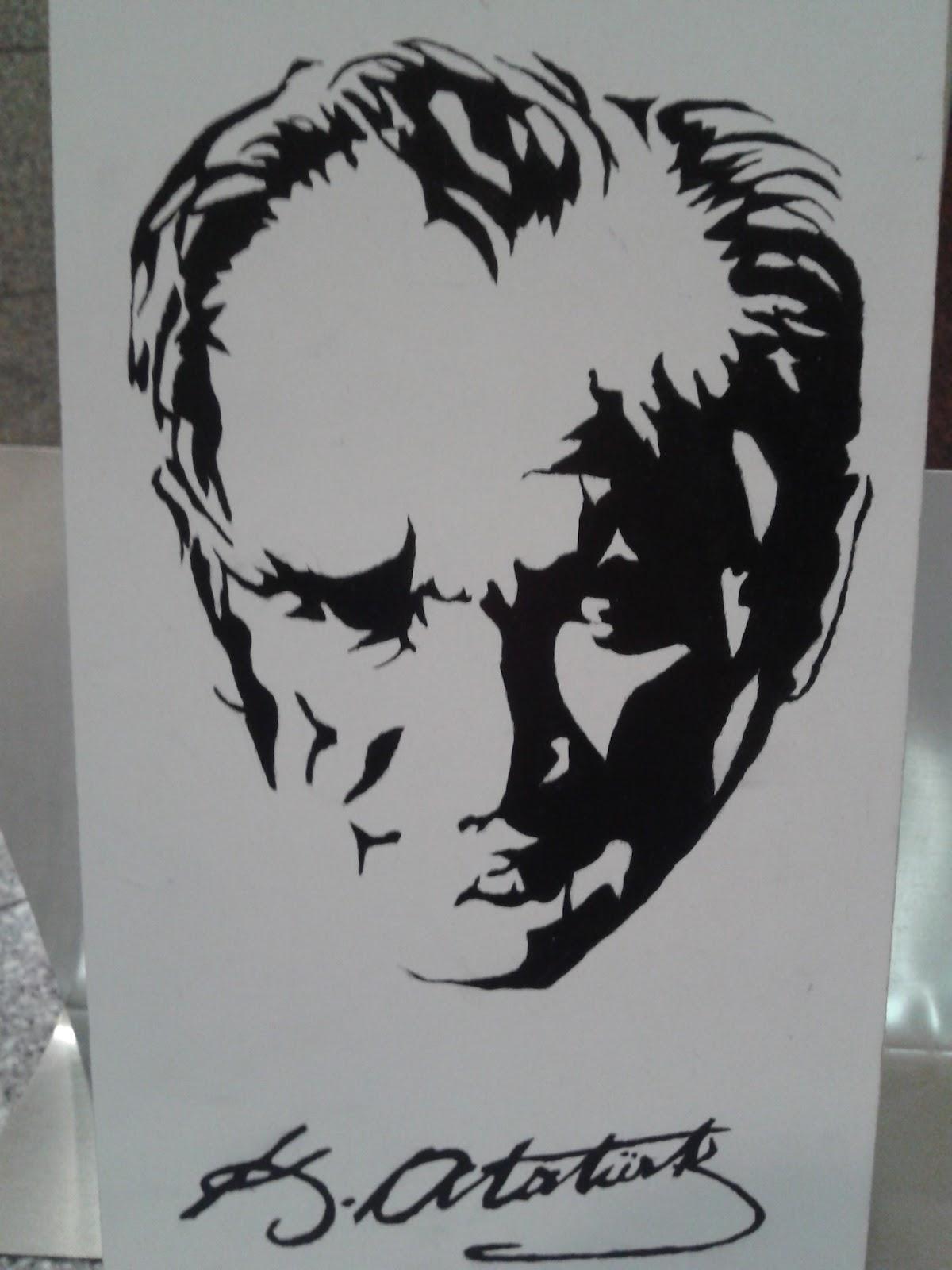 Hobisokağı Ahşap Boyama Yağlı Boya Atatürk çalışması