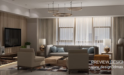 Jasa Design Livingroom Interior Mewah Harga Murah