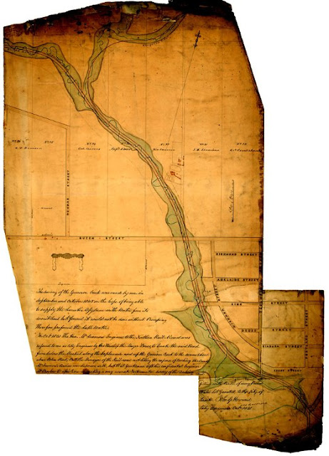 Survey of Garrison Creek, by John G. Howard, 1851