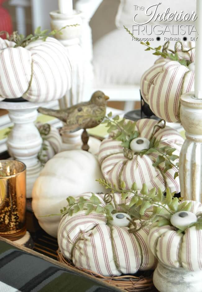 Cabinet Knob Stem Fabric Pumpkins