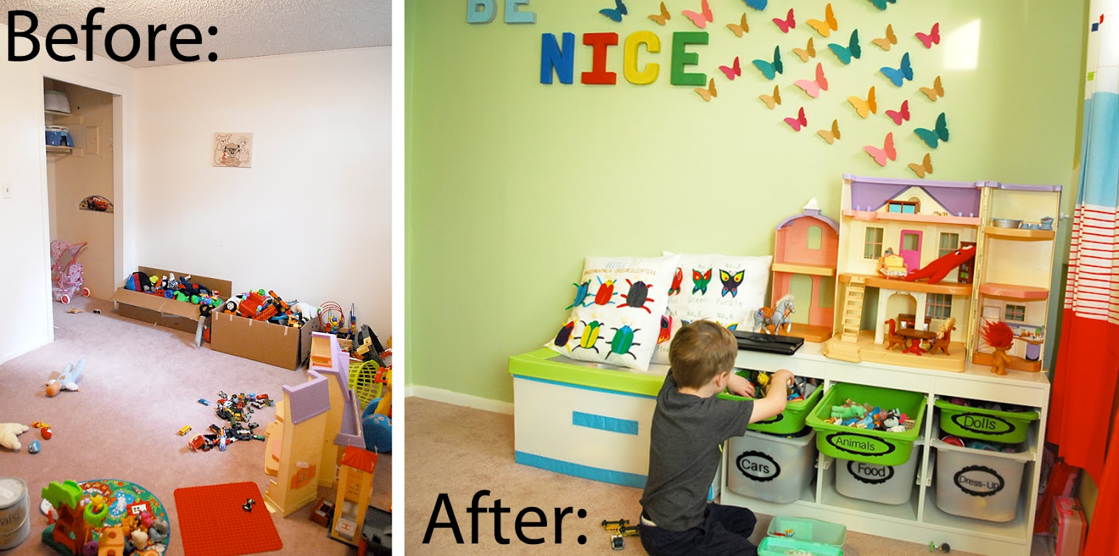 Playroom Reveal {Before And After}