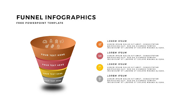 Free Infographic PowerPoint Templates for Marketing and Sales Funnel Presentation Slide 2