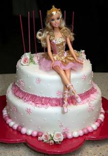gambar kue ulang tahun barbie