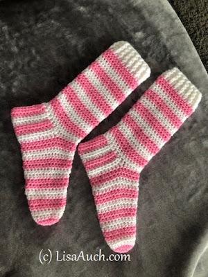 Crochet slipper sock pattern- slipper socks for men