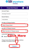 how to apply sbi cheque book online