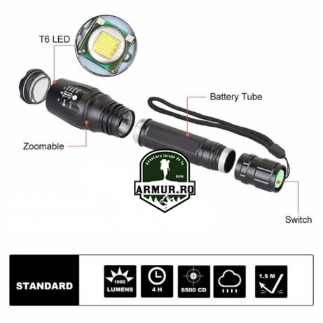 Lanterna Foarte Puternica Power Light MX-330-2 Led Cree T6 Power Light / X-Bailong