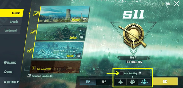cara bermain solo vs squad pubg mobile