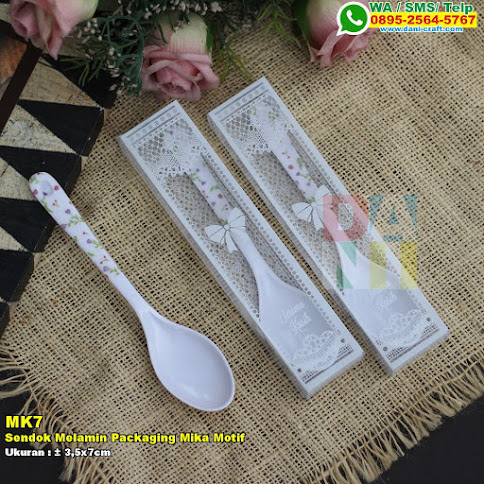 Sendok Melamin Packaging Mika Motif