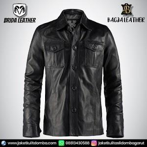 Jual Jaket Kulit Asli Garut Pria Domba Original Brida Leather B11 SAFARI   WA 08813430588
