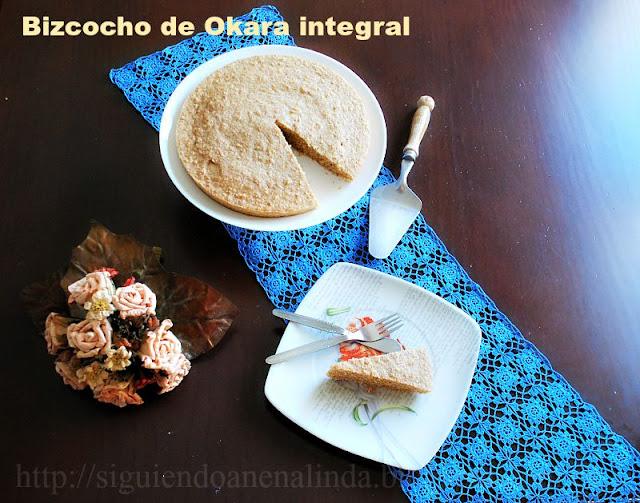 Siguiendo a nenalinda bizcocho de okara integral en - Bizcocho con microondas ...