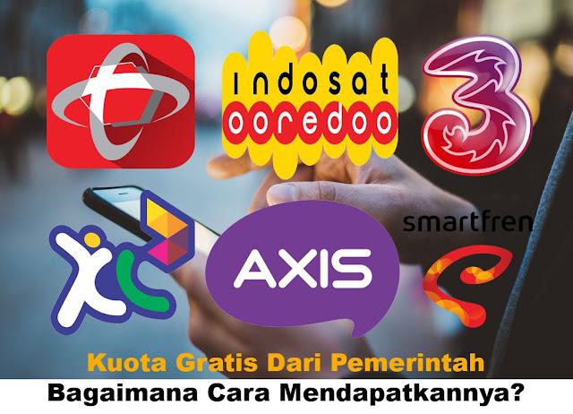 Cara Mendapatkan Kuota Gratis Dari Pemerintah Telkomsel, XL, Axis, IM3 Indosat dan Paket 10 GB Hanya Rp 10