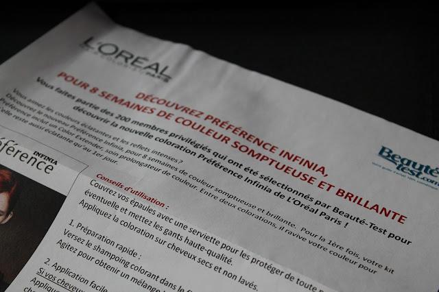 Test - Coloration Préférence devient Préférence Infinia de L'Oréal