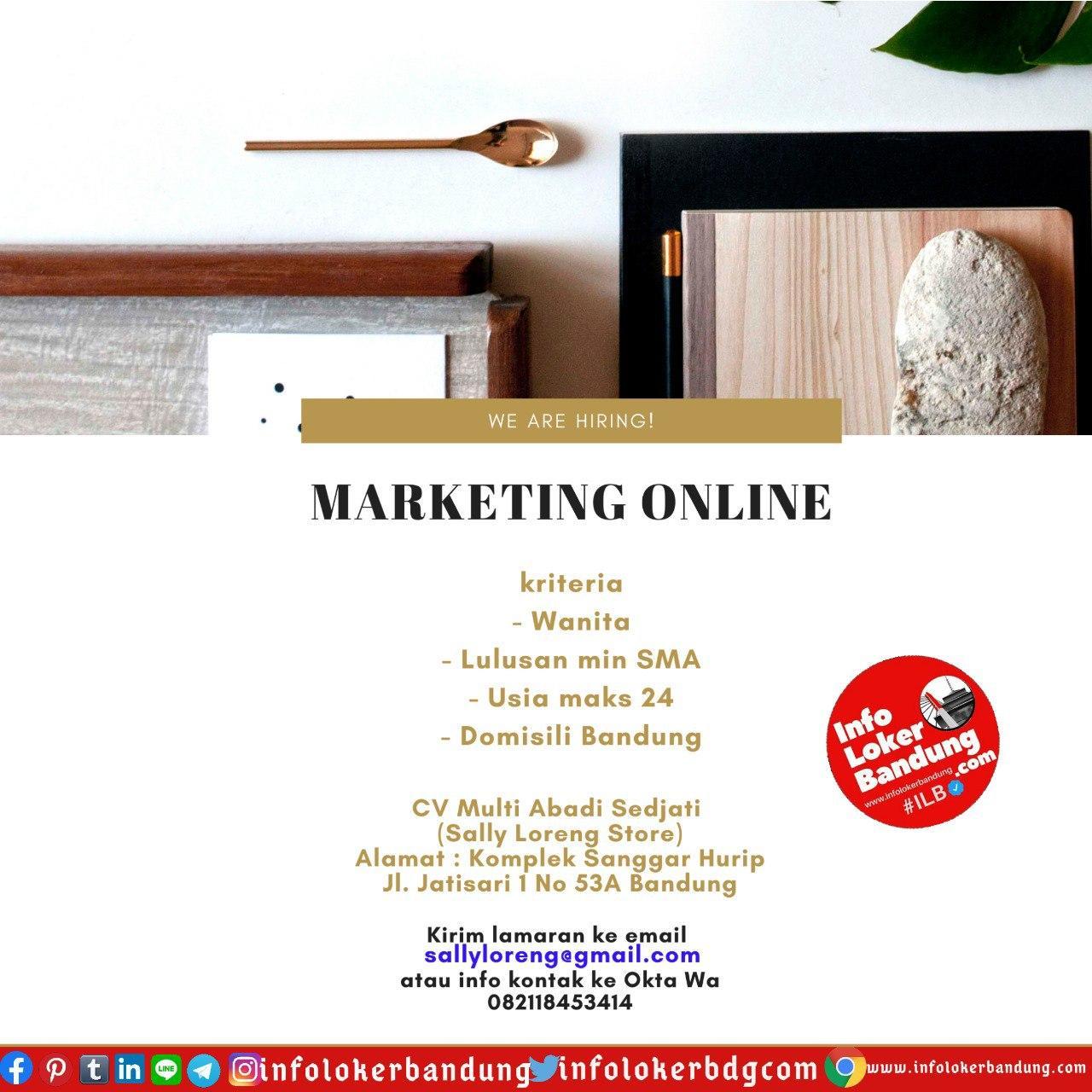 Lowongan Kerja CV Multi Abadi Sedjati (Sally Loreng Store) Bandung Juli 2020