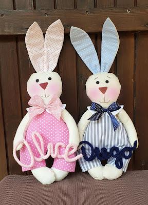 coniglietti tessuto personalizzati con nome