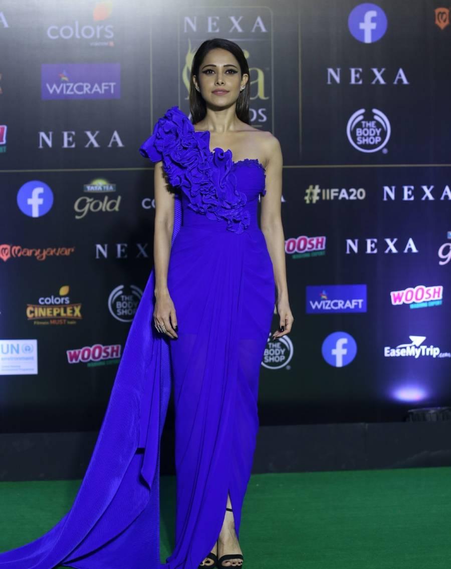 Indian Model Nushrat Bharucha At Green Carpet Of IIFA Awards