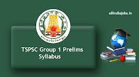 TSPSC Group 1 Prelims Syllabus