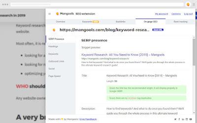 SEO Extension [Metrics, Backlinks, On-Page]