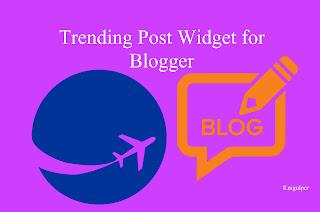 Trending Post Widget
