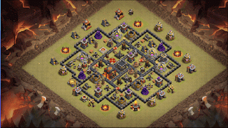 Town Hall 9 War Base