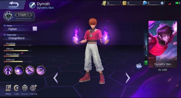 Skin KoF Dyrroth Orochi Chris