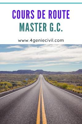 Cours de route master genie civil