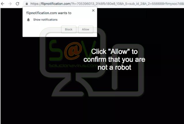 Flipnotification.com pop-ups