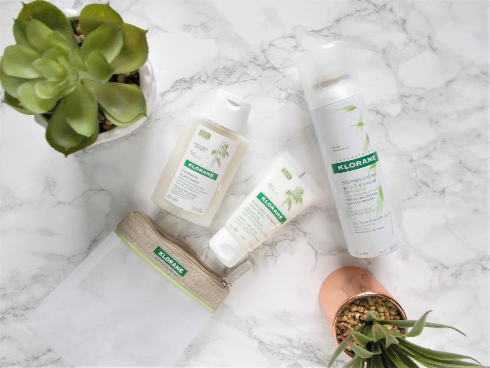 Klorane oat milk range shampoo conditioner dry shampoo review