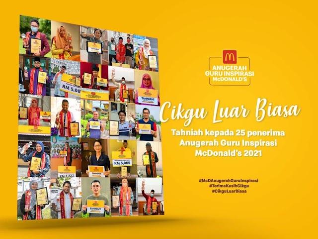 Tahniah 25 Penerima Anugerah Guru Inspirasi McD 2021. Jom Kita Baca Kisah Cikgu Khairul Izzudin!