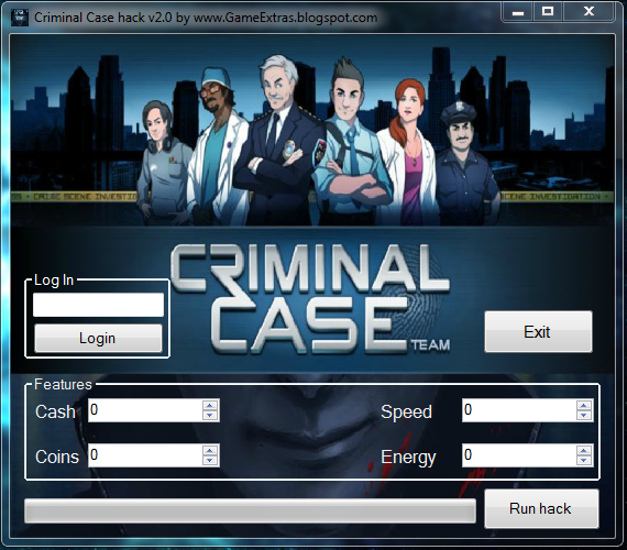 Big-Hackz: Criminal Case Hack – Cheats – Trainer v2.0
