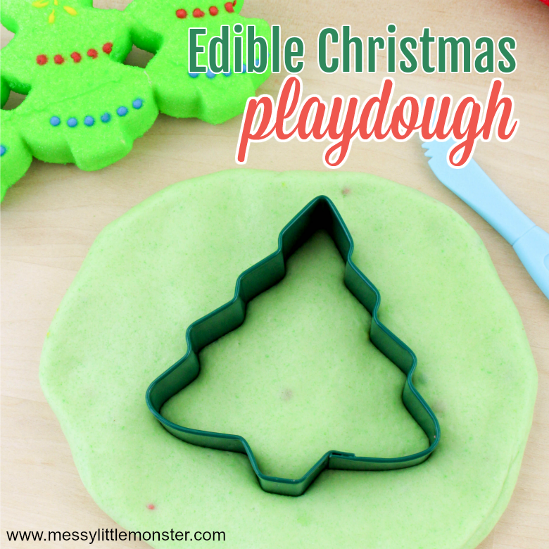 Christmas edible playdough