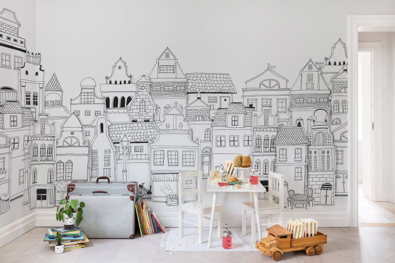 Ściana w dziecięcym pokoju