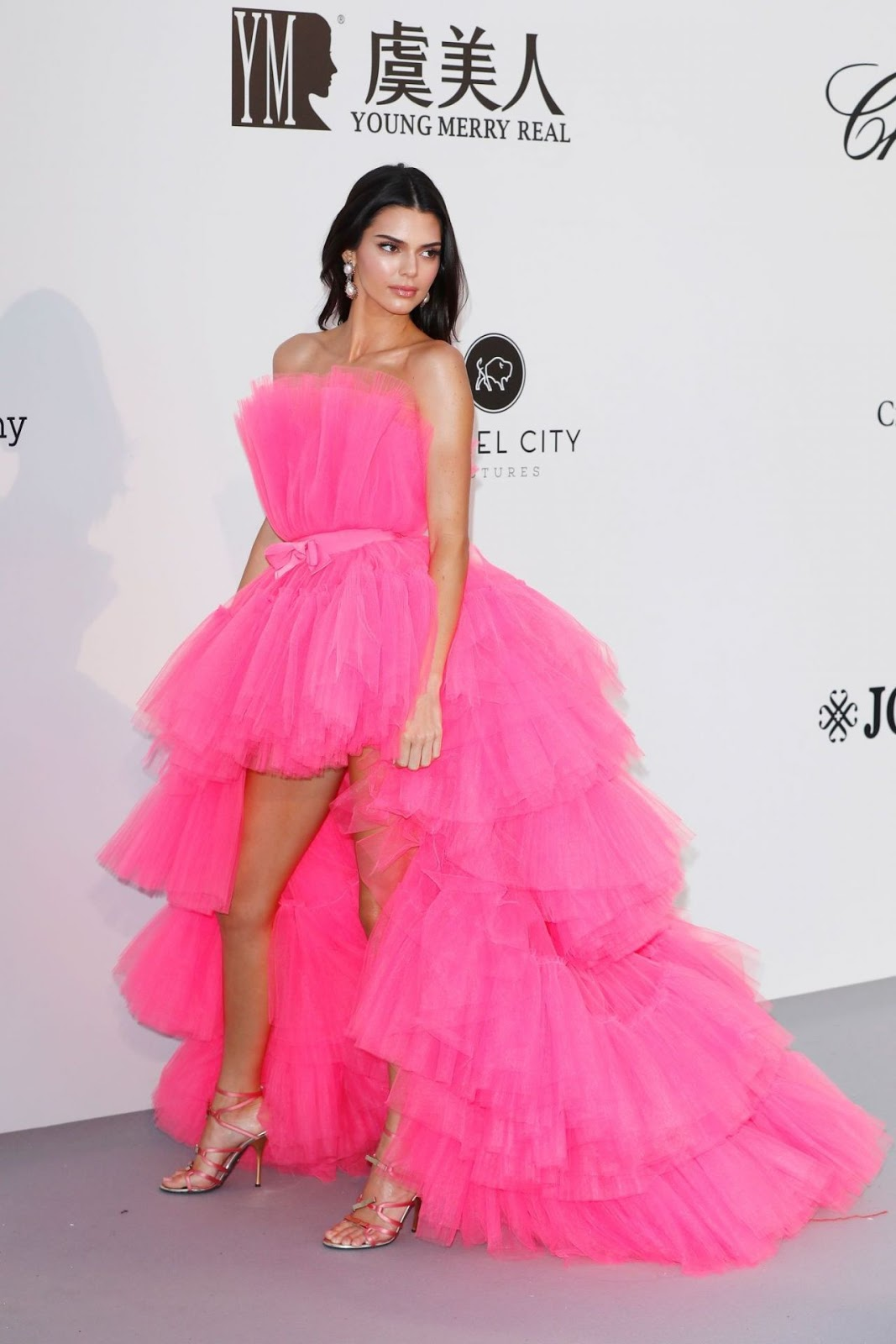 Kendall Jenner wearing Giambattista Valli x H&M at the 2019 amfAR Gala in Cannes, France