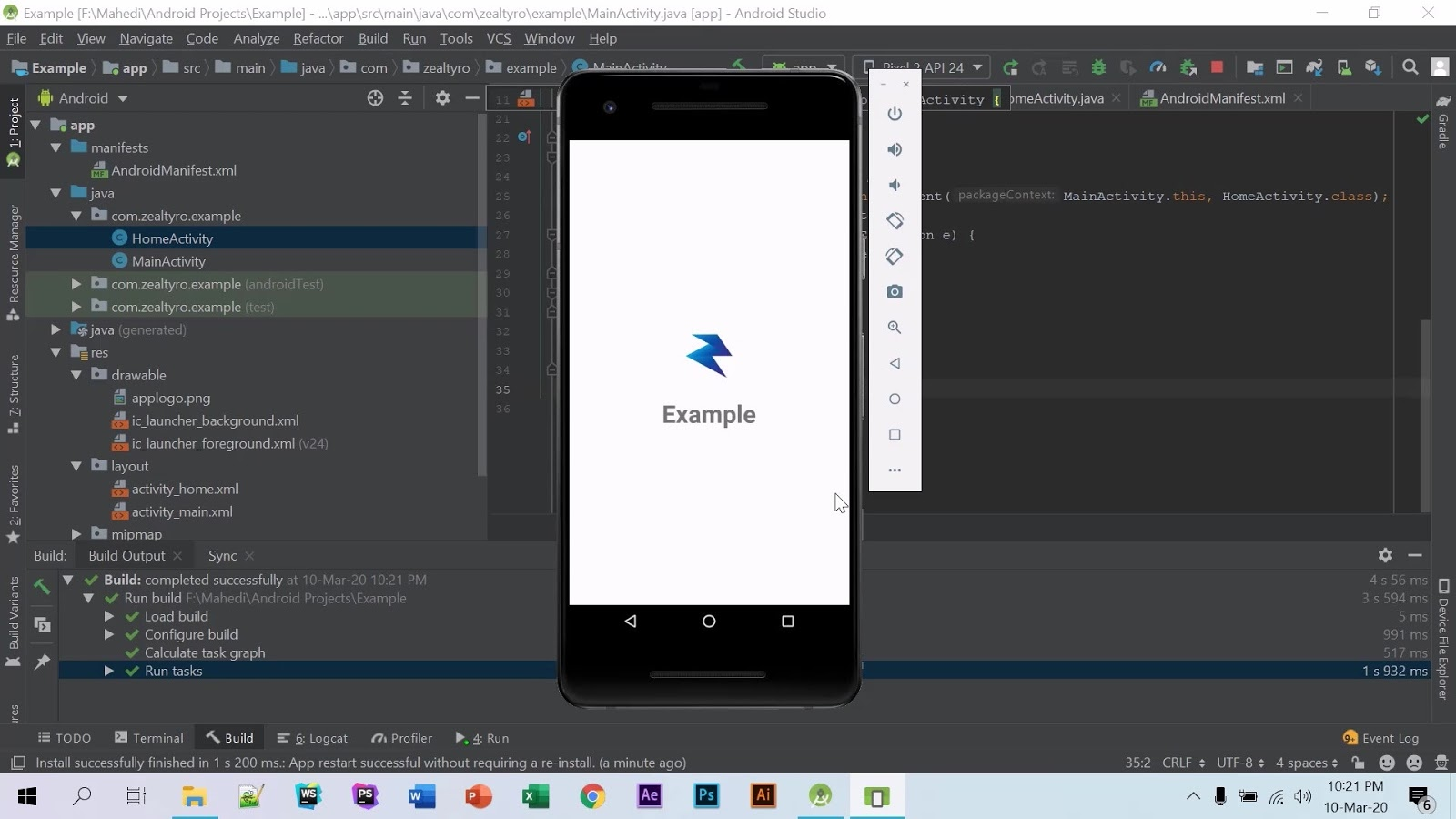 Create A Splash Activity In Android Studio