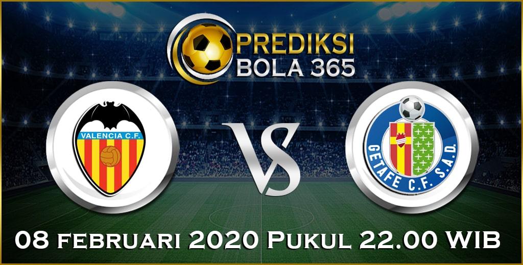 Prediksi Skor Bola Getafe vs Valencia 08 February 2020