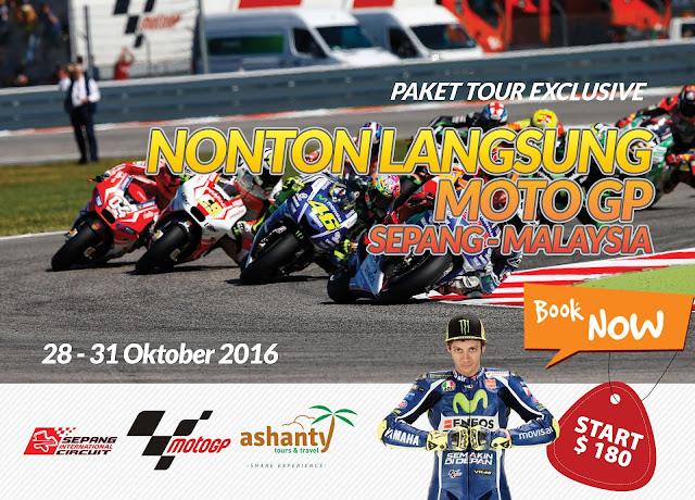 paket tour motogp sepang 2016 dari surabaya, harga paket tour motogp sepang 2016, paket nonton motogp sepang 2016,