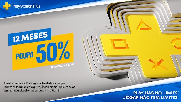 PlayStation®Plus de 12 meses com desconto de 50% já disponível na PlayStation®Store